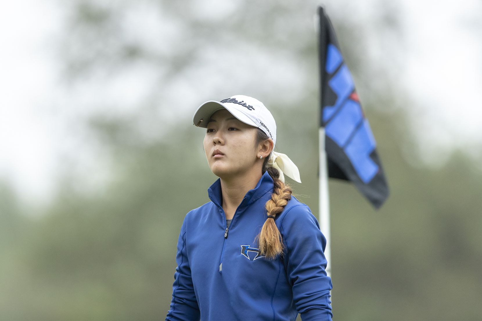 Lewisville Hebron's Estelle Seon exits the 1st green during round 2 of the UIL Class 5A girls golf tournament in Georgetown, Tuesday, May 11, 2021. (Stephen Spillman/Special Contributor)