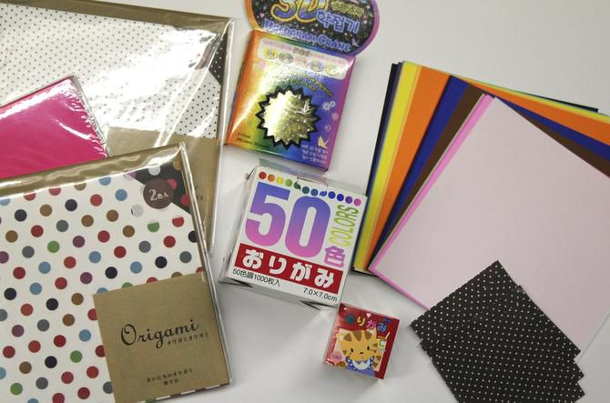 YOU CAN BUY origami paper in various colors and designs at local craft stores.