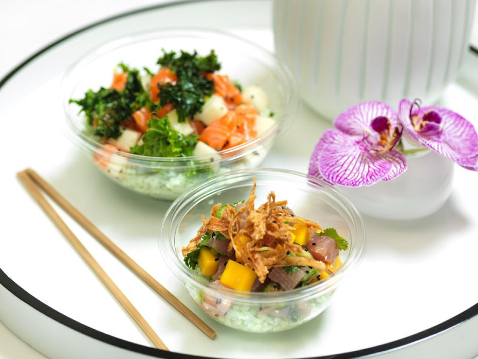 Poke -- cold, raw fish -- is the focus at Pok the Raw Bar in the Dallas development West Village.