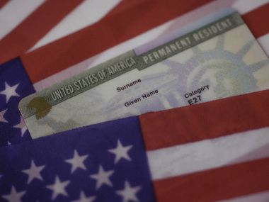 A U.S. green card, a visa that allows permanent residence.