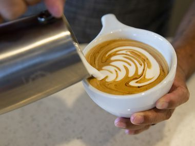 A drink is made at Gold & Grounds Coffee Co. on Sept. 14, 2020 in Arlington. We have gathered locations in Allen where you can celebrate International Coffee Day on Sept. 29.