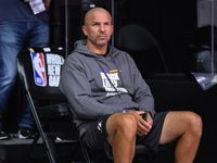 Assistant coach Jason Kidd of the Los Angeles Lakers looks on before a game on July 30, 2020 at HP Field House at ESPN Wide World of Sports in Orlando, Florida.