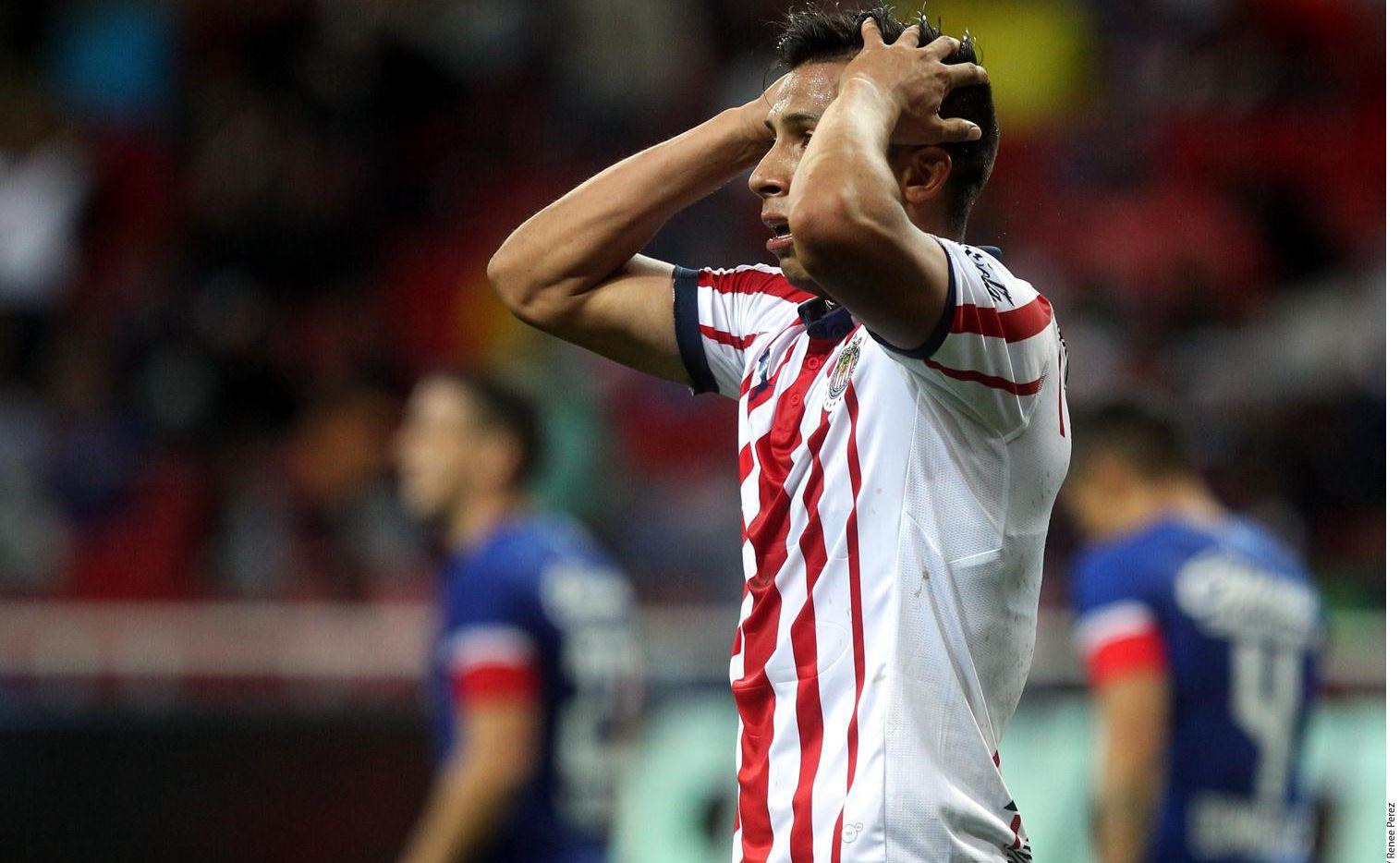 En cuatro partidos del semestre, el Guadalajara apenas ha sumado un punto.(AGENCIA REFORMA)