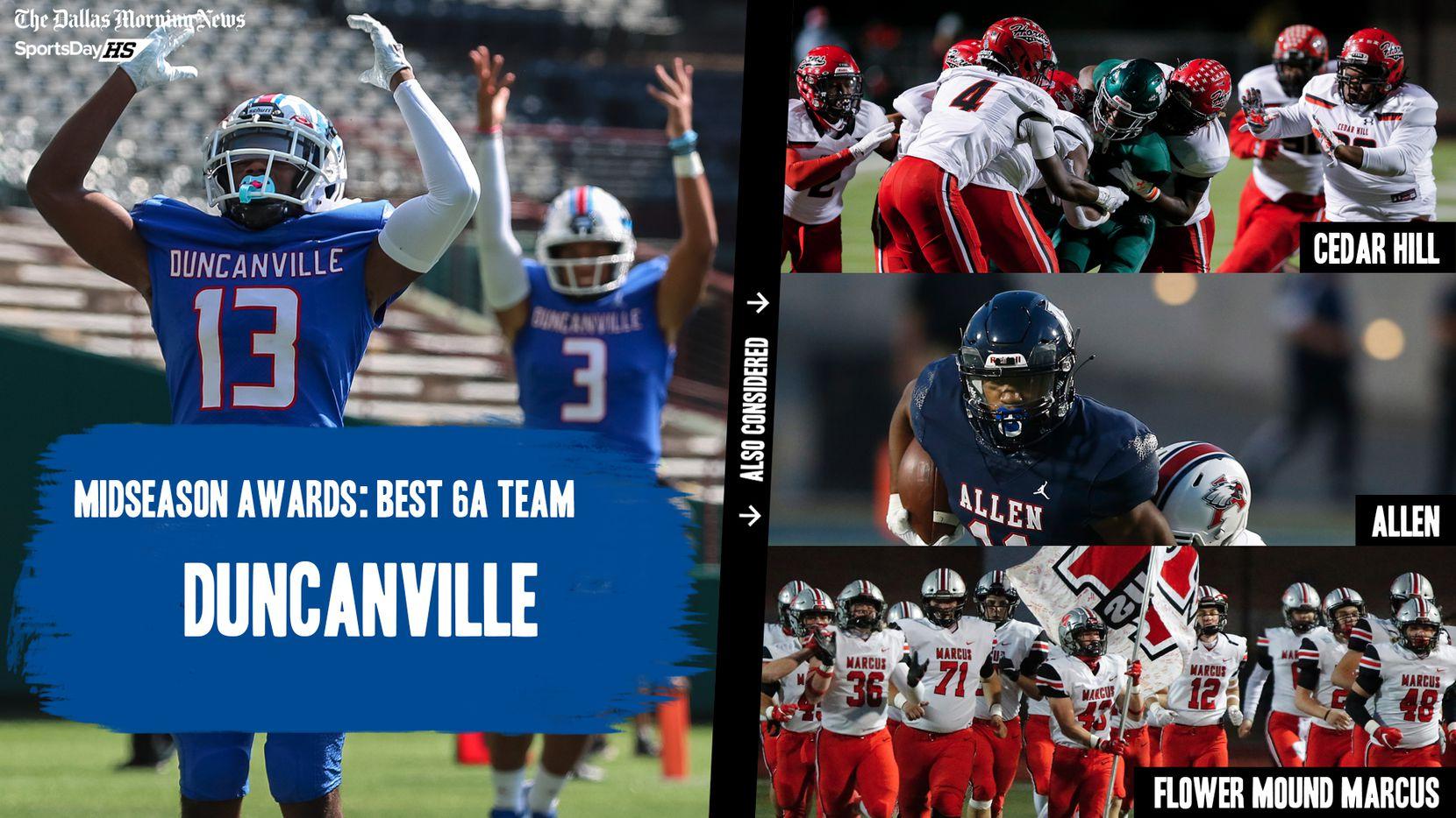 The Dallas Morning News' midseason awards for the 2020 football season: the best 6A teams.