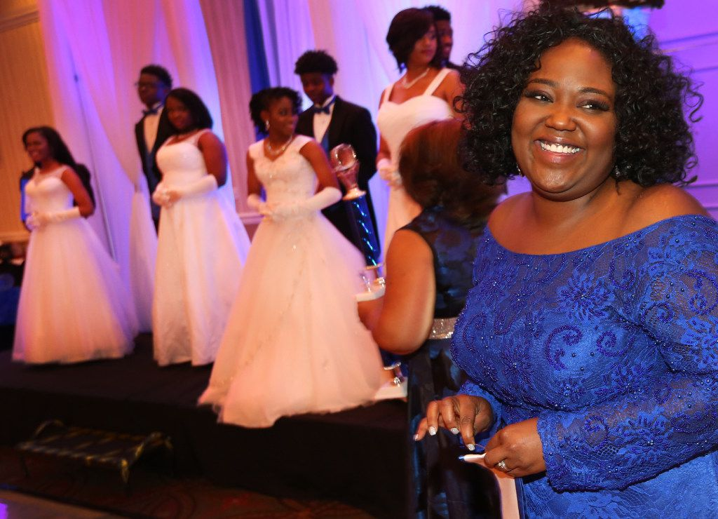 (ID to come) as the sorority sisters of Zeta Phi Beta Sorority, Inc. hold the Miss Blue Revue scholarship gala at the Doubletree Inn in Farmers Branch, Texas on Saturday, March 25, 2017. (Louis DeLuca/The Dallas Morning News)