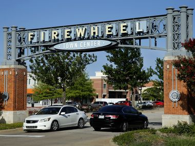 One of the entrances to Firewheel Town Center shopping center is pictured in Garland, Texas, Friday, June 26, 2020. Gardland businesses received more than $113.45 million in loans through the Paycheck Protection Program. (Tom Fox/The Dallas Morning News)