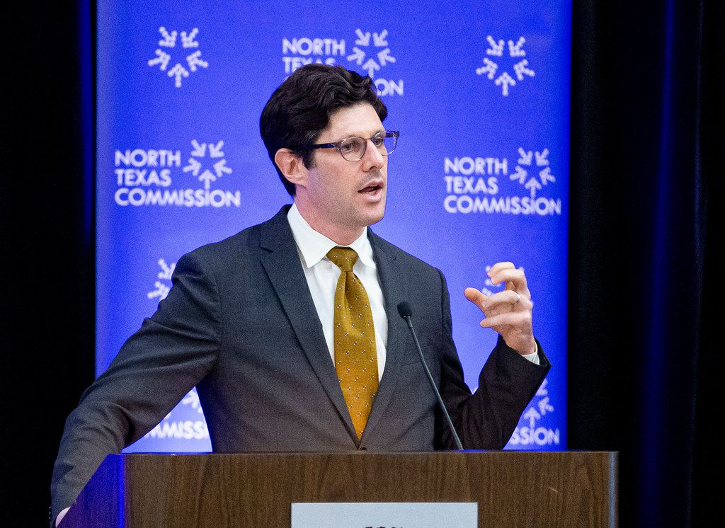 Jeremy Robbins, executive director of New American Economy, spoke Wednesday during a North Texas Commission panel discussing the impact immigration has on the regional economy.