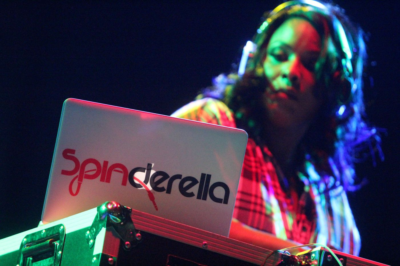 DJ Spinderella headlined the Pin Drop Disco event on Saturday at Strauss Square in downtown Dallas.