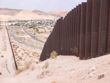 A section of the border wall in El Paso on Wednesday, June 23, 2021.