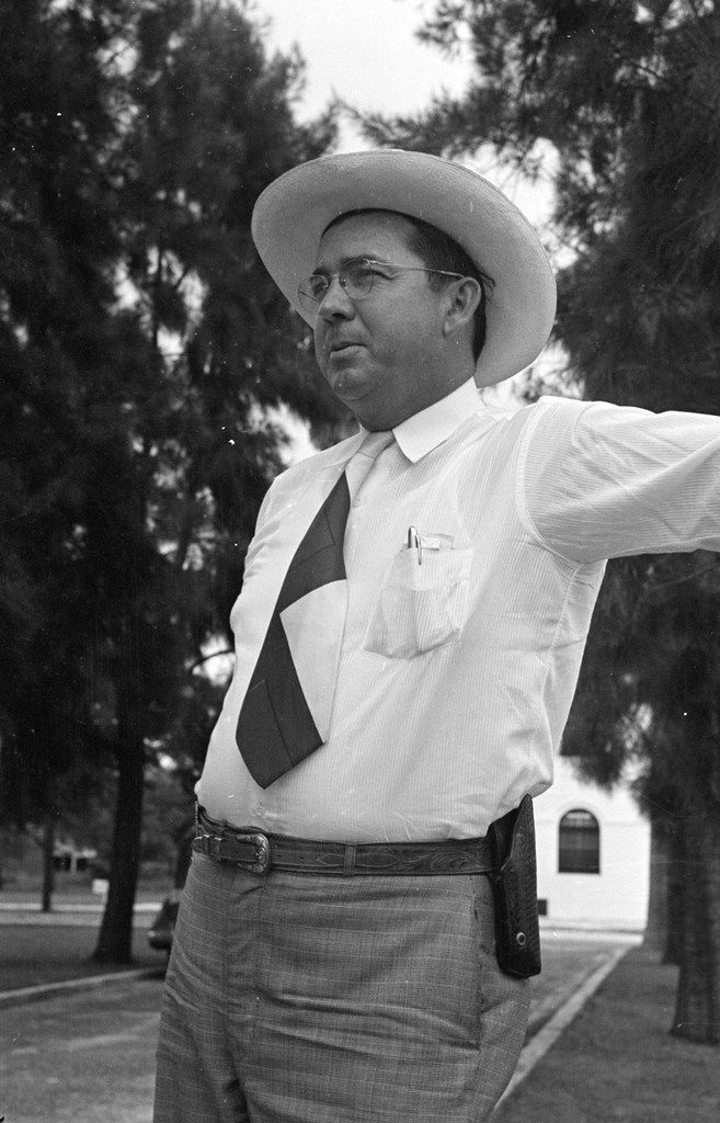 Willis McCall, Sheriff of Lake County, Florida, in 1949.