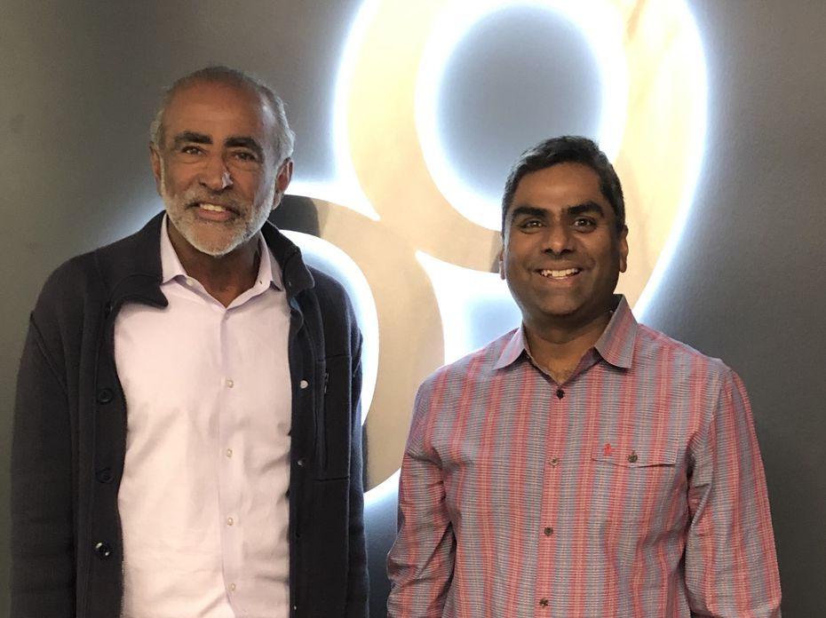 Sanjiv Sidhu (left) and Chakri Gottemukkala (right)  are co-founders of Dallas-based o9.