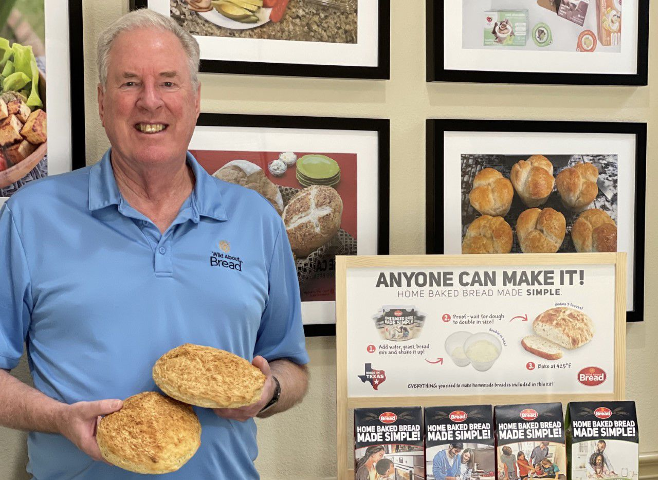 """Jeff Sholl's Wild About Bread DIY kits are now sold in Kroger stores across Texas. """"We are taking away the fear that [people] can't make bread,"""" Sholl said."""