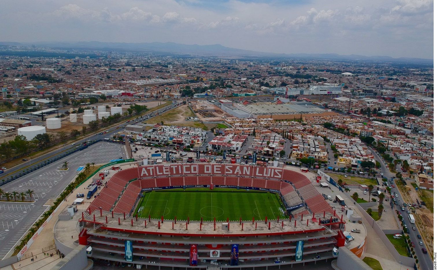 El Alfonso Lastras, estadio del Atlético San Luis de la liga mexicana de futbol.