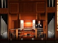 Organist Bradley Hunter Welch performs at the Meyerson Symphony Center.