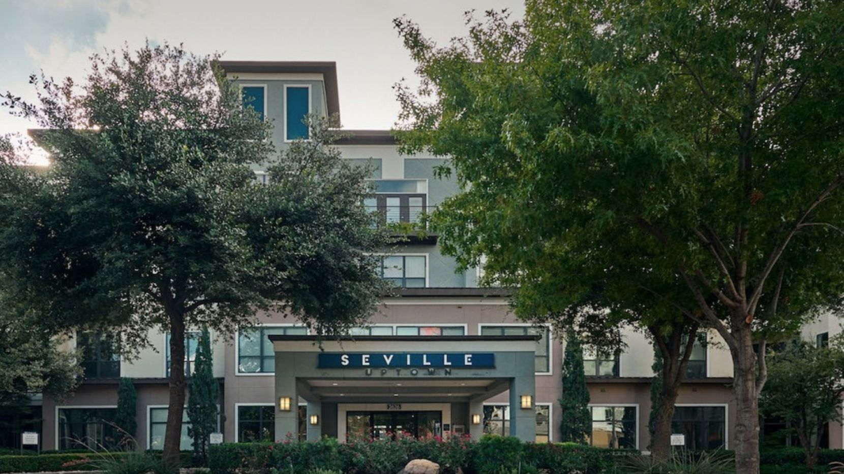 The Seville apartments are located a block off Maple Avenue in Dallas' Uptown district.