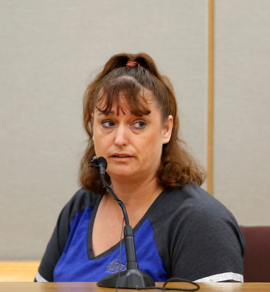 Wendi Oliver, Roy Oliver's half-sister, called Roy Oliver trash and said she felt sorry for what he did to Jordan Edwards. (Rose Baca/Staff Photographer)