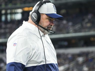Dallas Cowboys head coach Mike McCarthy works on the sidelines during the first half of a preseason NFL football game against the Houston Texans at AT&T Stadium on Saturday, Aug. 21, 2021, in Arlington.