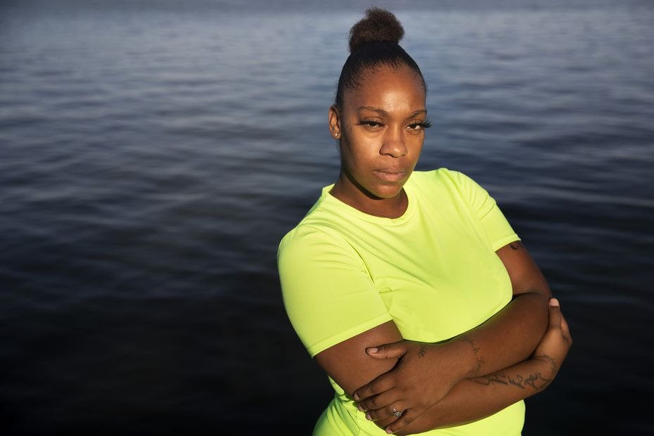 Ebony Davis says when she was about 12, pastor Rickie Rush handcuffed her to another girl and paddled them as they ran laps around a gym. (Lynda M. González/The Dallas Morning News)