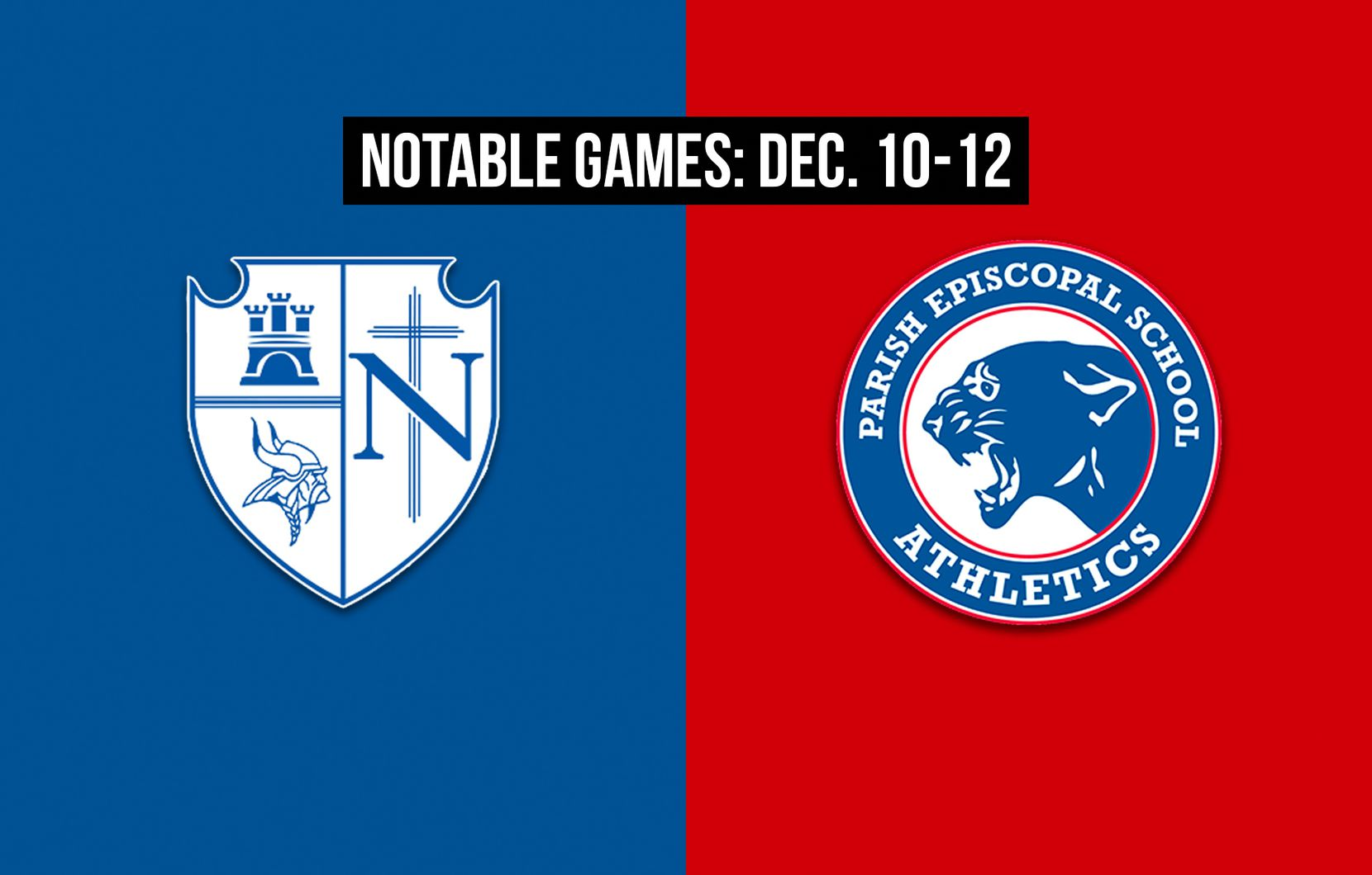 Notable games for the week of Dec. 10-12 of the 2020 season: Fort Worth Nolan vs. Parish Episcopal.