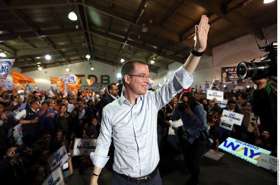 Ricardo Anaya, candidate of the PAN-PRD coalition