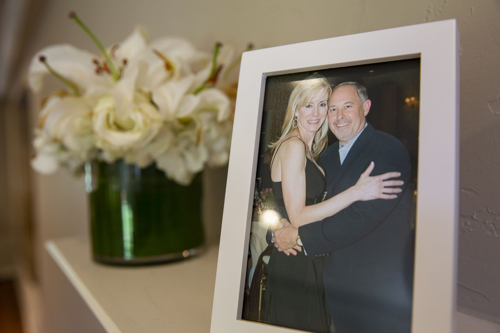 Leslie and Robert Baker are shown in a photo taken during a celebration of his 50th birthday.