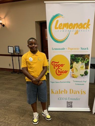 Kaleb Davis is a 10-year-old entrepreneur and the youngest in the DeSoto Chamber of Commerce. Lemonack Shack is a combination of lemonade and popcorn and could include barbecue in the future.