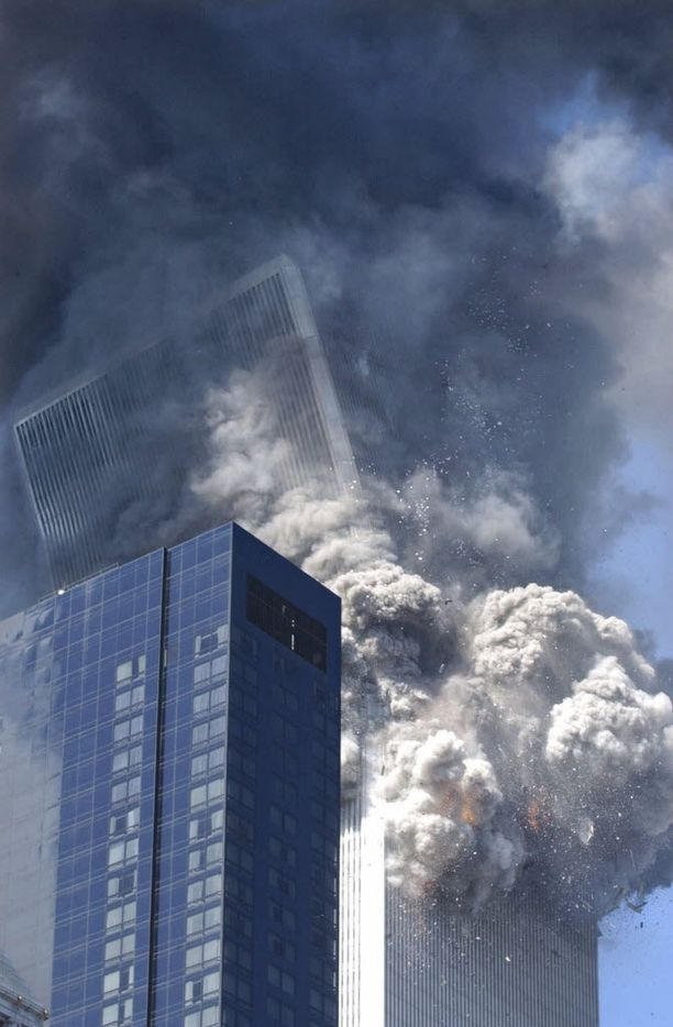 In this Sept. 11, 2001 file photo, the south tower of the World Trade Center begins to collapse after a terrorist attack on the New York landmark.