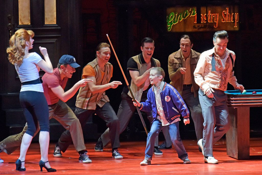 Frankie Leoni as Young Calogero during a performance of the musical A Bronx Tale at the Winspear Opera House in Dallas on Dec. 27, 2018.
