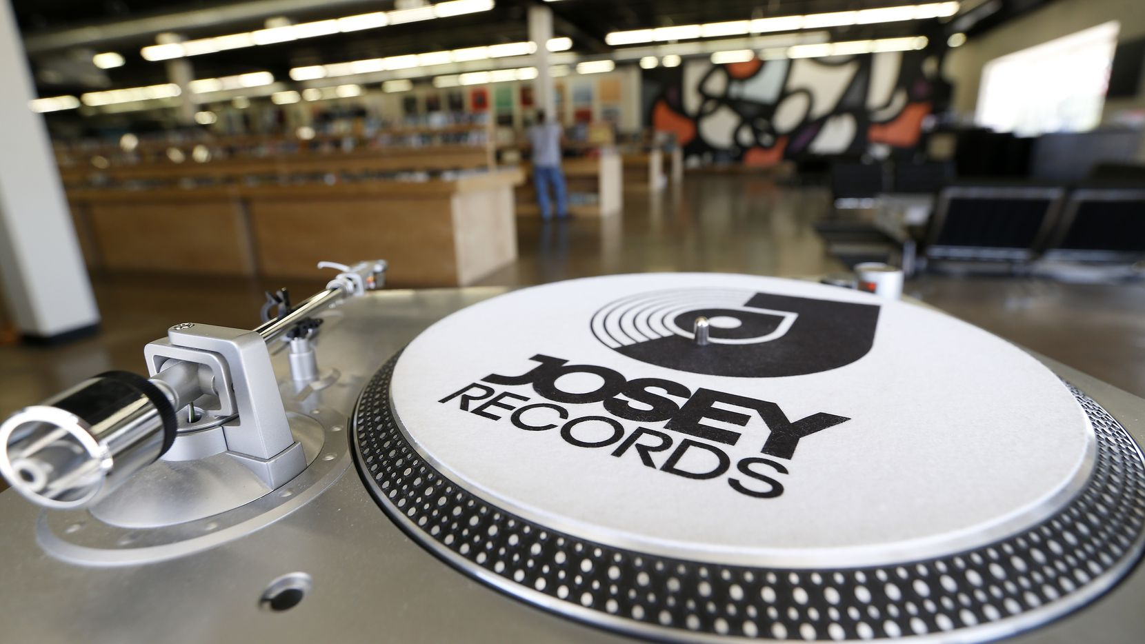 A turntable show at Josey Records in Farmers Branch on July 28, 2017.