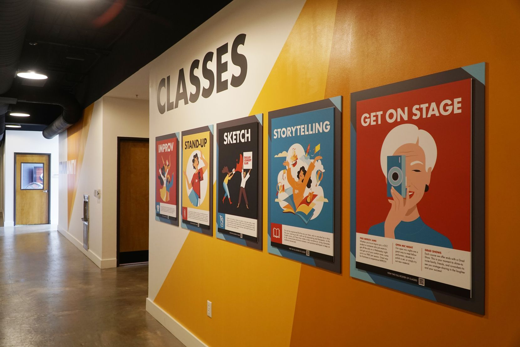 Besides its three stages, the refurbished 9,600-square-foot venue has a restaurant, beer garden, a podcast studio and classrooms for comedy training.