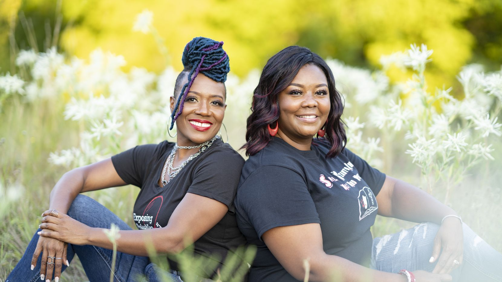 Half sisters Donna Fields (left) and Renee Phillips, shown at Arbor Hills Nature Preserve in Plano, were close as youngsters, sharing a father who was a Baptist preacher and a grandmother who touched the TV to pray with televangelists.