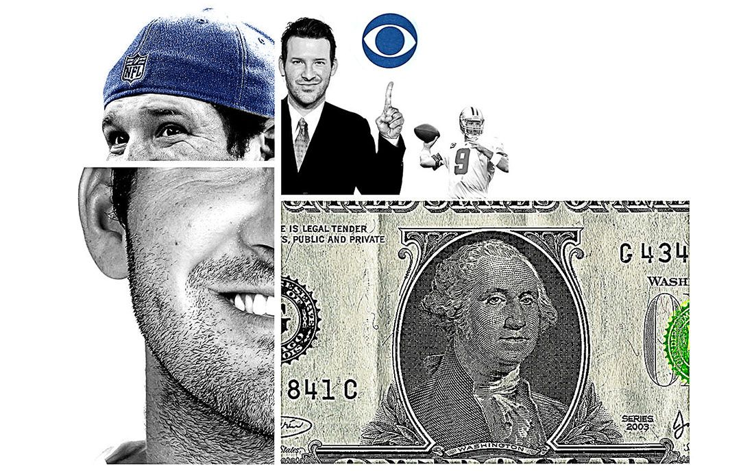 Tony Romo is set to make some big bucks. The former Cowboys quarterback has signed a new, lucrative contract to call football games for CBS. (Staff illustration)