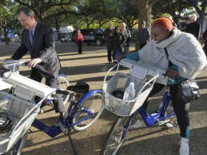 This is still as far as Dallas' bike-share program has gotten: Fair Park. That should change sooner than later. (Ron Baselice/Staff photographer)