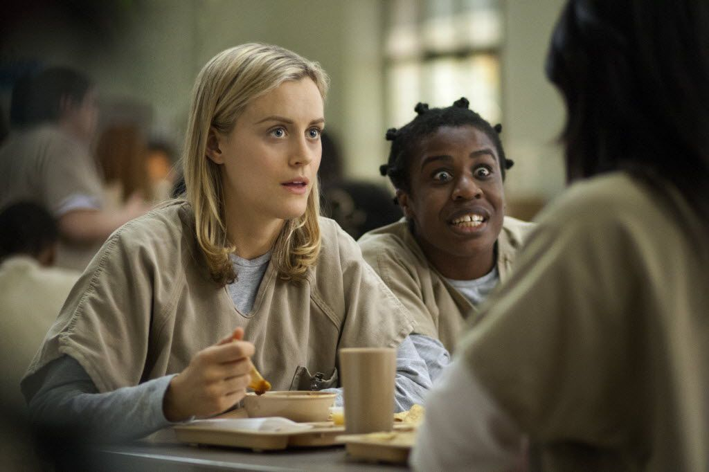"""Taylor Schilling, left, and Uzo Aduba star in """"Orange Is the New Black."""""""