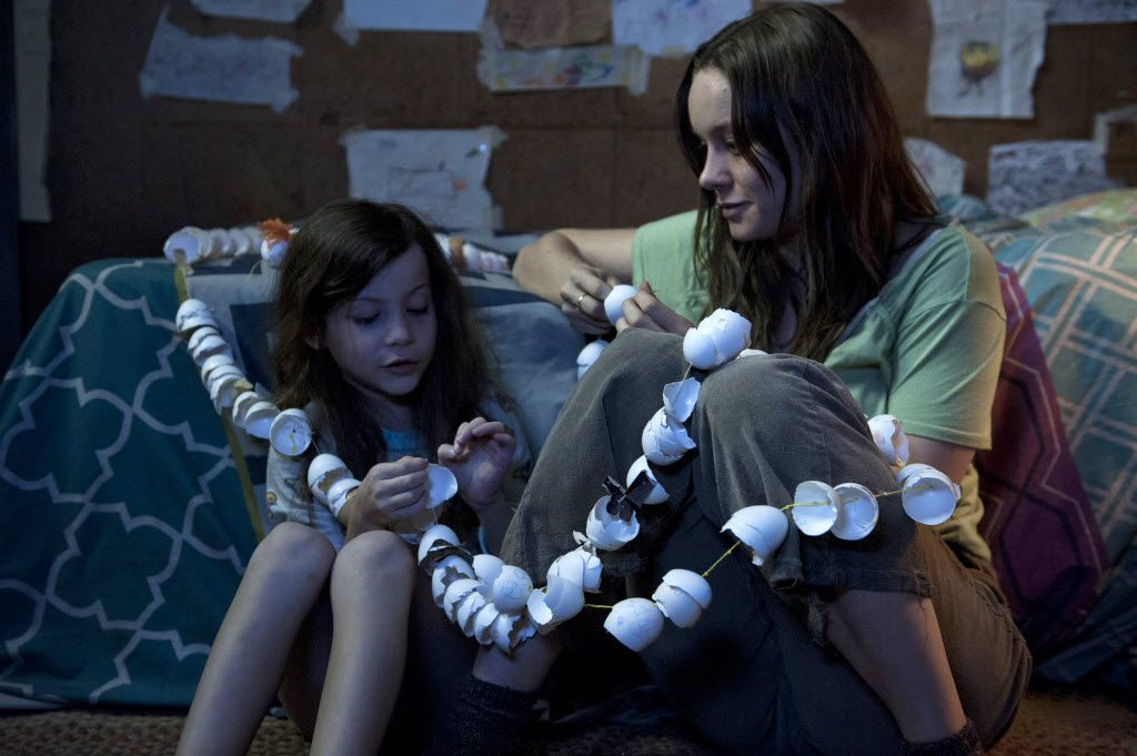 """Brie Larson, right, and Jacob Tremblay in """"Room."""""""