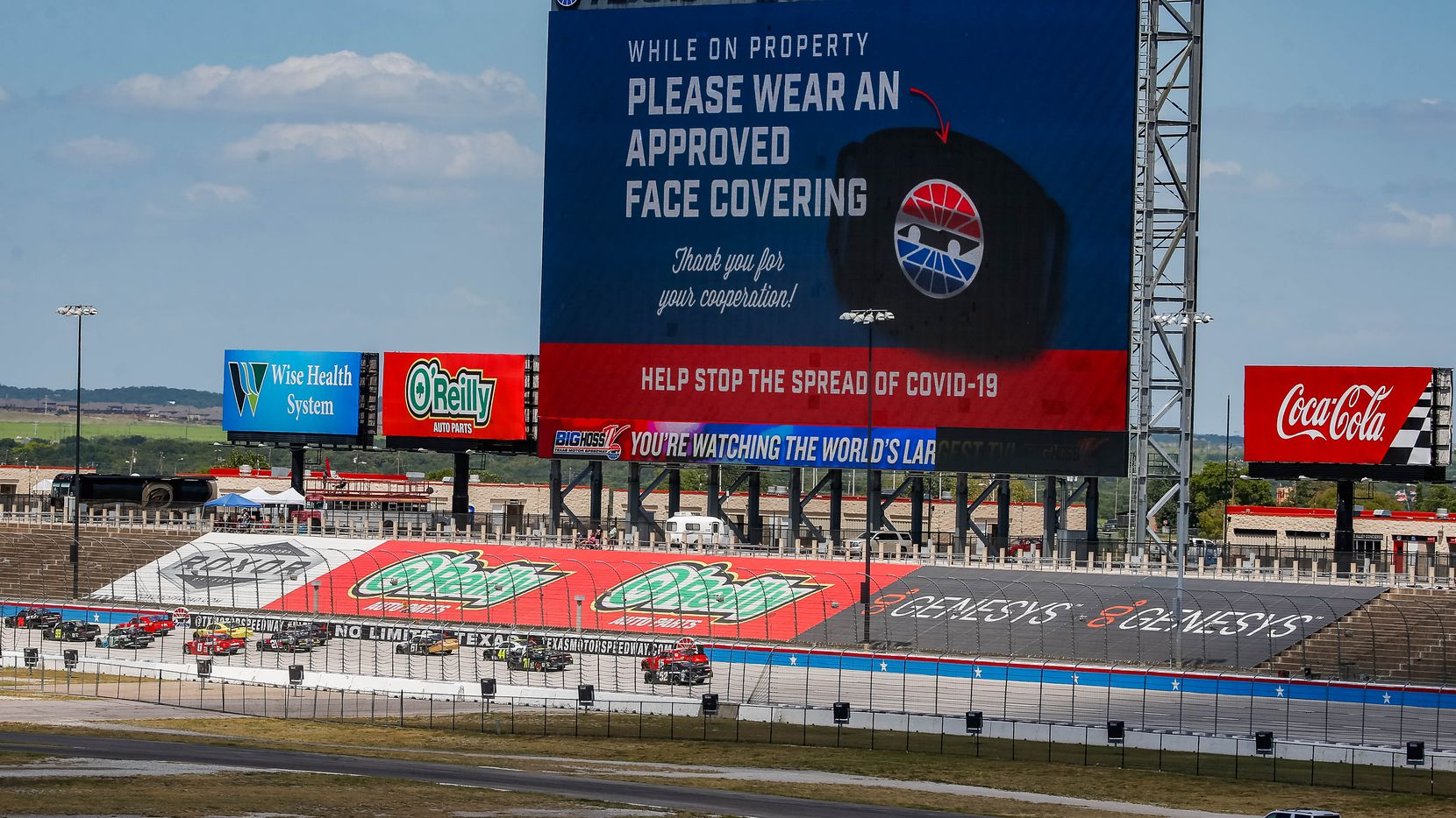 Officials with Texas Motor Speedway are in talks with Denton County to host a COVID-19 vaccine 'mega site' at the speedway.