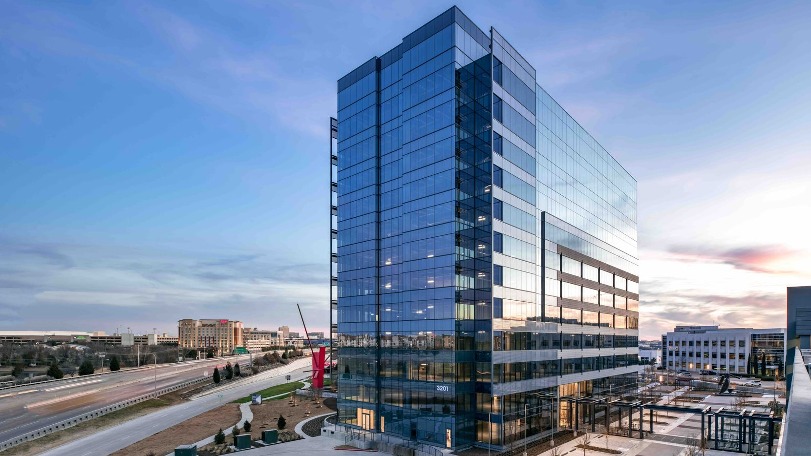 The 3201 Dallas Parkway tower is the latest addition to Frisco's Hall Park.