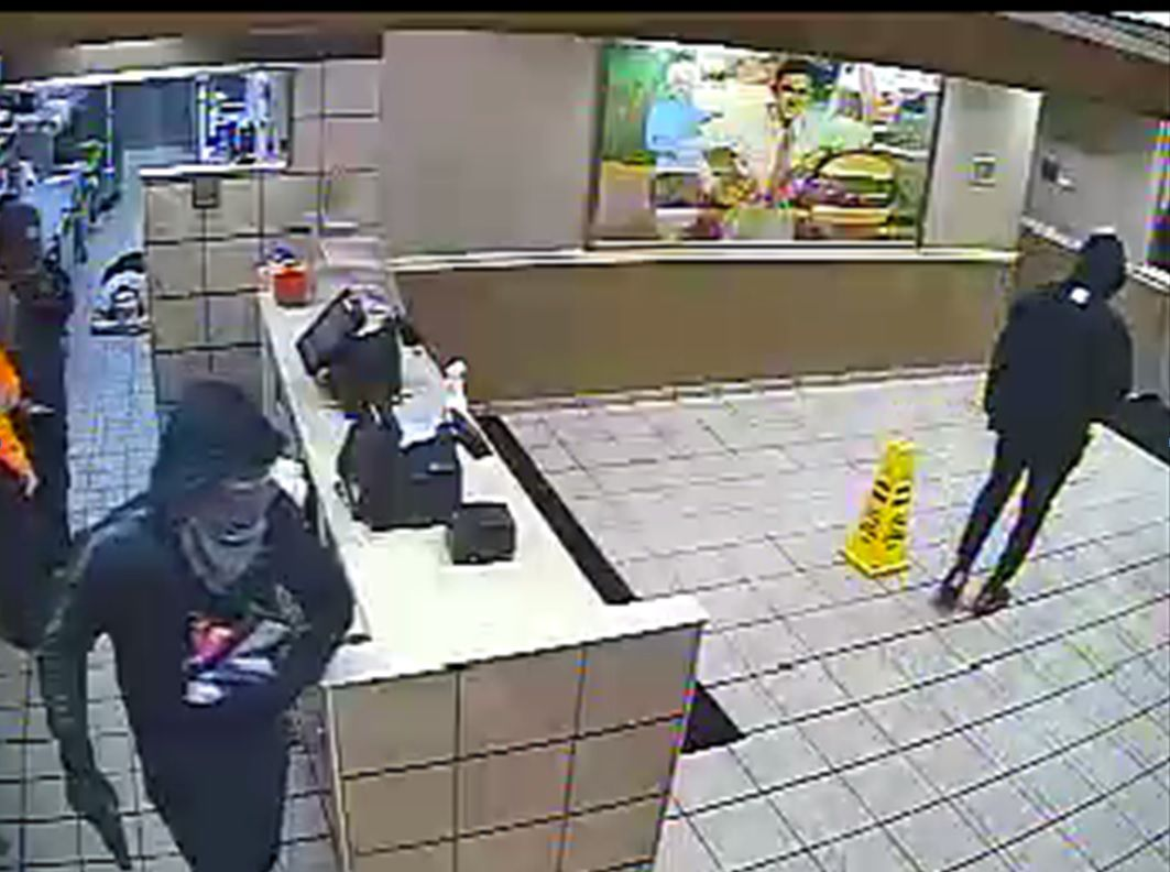Two men are suspected of robbing the Terrell Whataburger on FM148 at gunpoint on Monday.