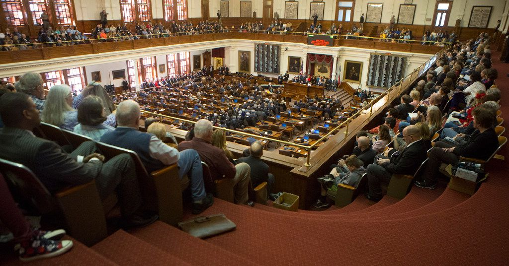 A Texas Senate committee heard public comments Wednesday on two bills lauded by anti-abortion advocates. (Stephen Spillman/The Associated Press)