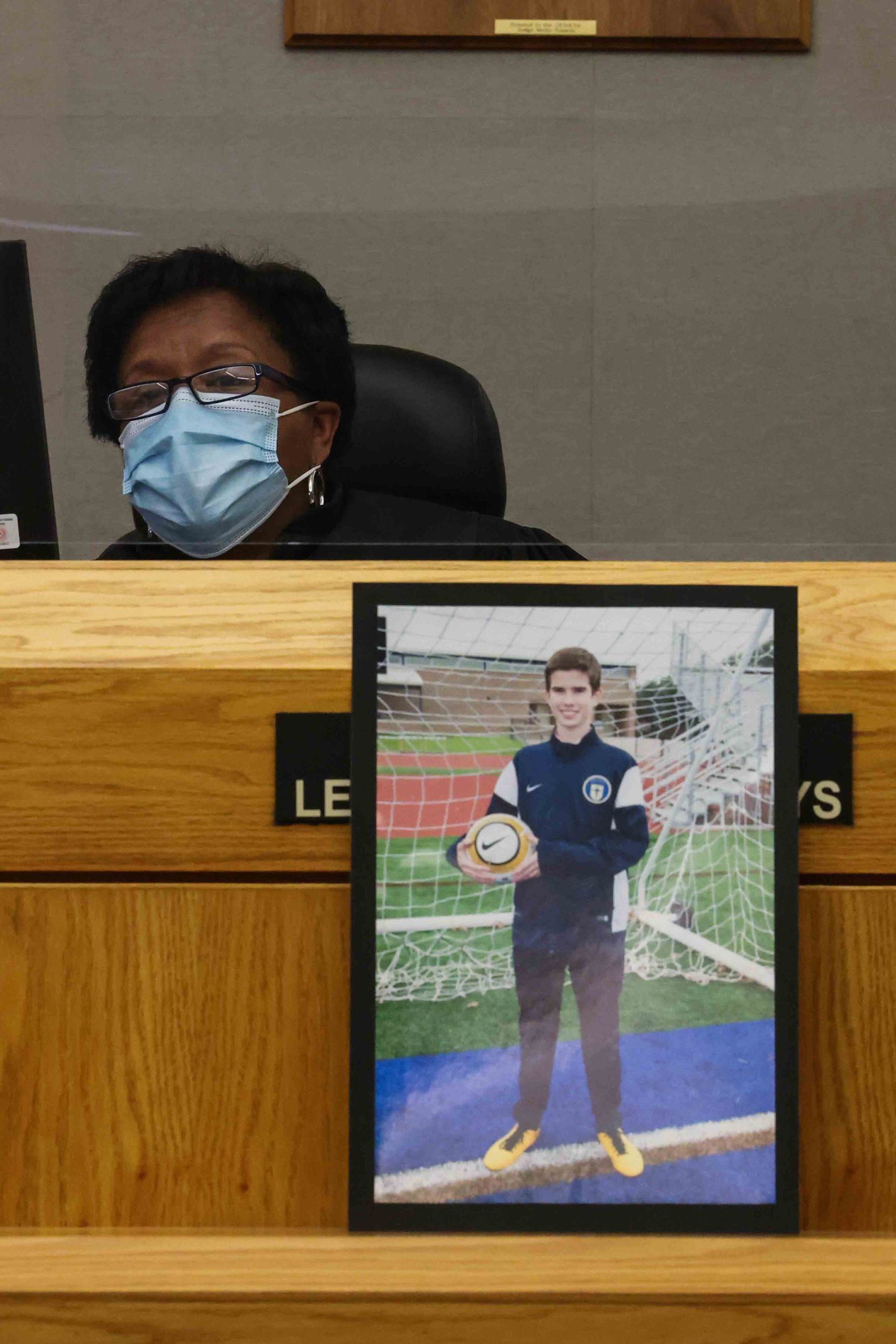 State District Judge Lela Mays heard testimony in Dallas on Wednesday to determine the sentence for Terrelwin Jones, who is charged with manslaughter in the wreck that killed 15-year-old Guy Delaney.