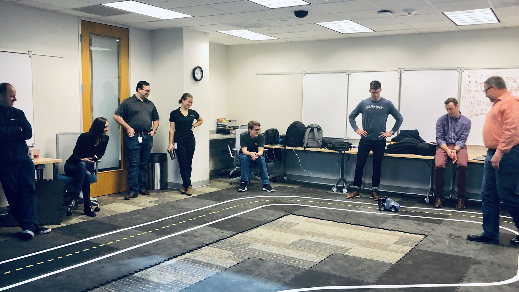 Developer School is a one-week training course for new hires at Pariveda Solutions. On Friday at the end of the session, there's an WS DeepRacer competition.