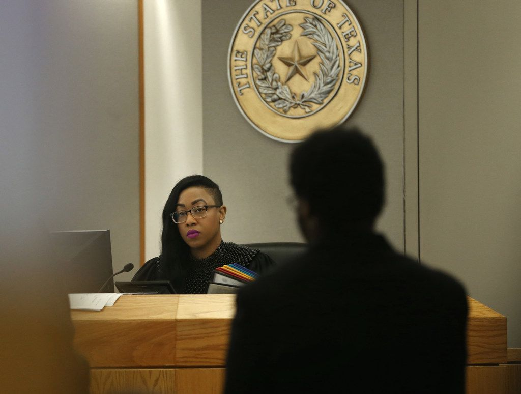 Judge Amber Givens-Davis presided over Thomas Johnson's trial at the Frank Crowley Courts Building in Dallas.