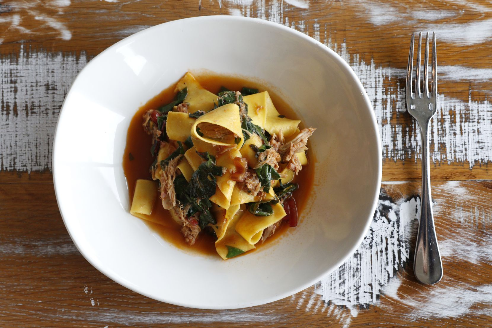 The husband and wife team at Gemma have a winner with their pappardelle with braised rabbit.