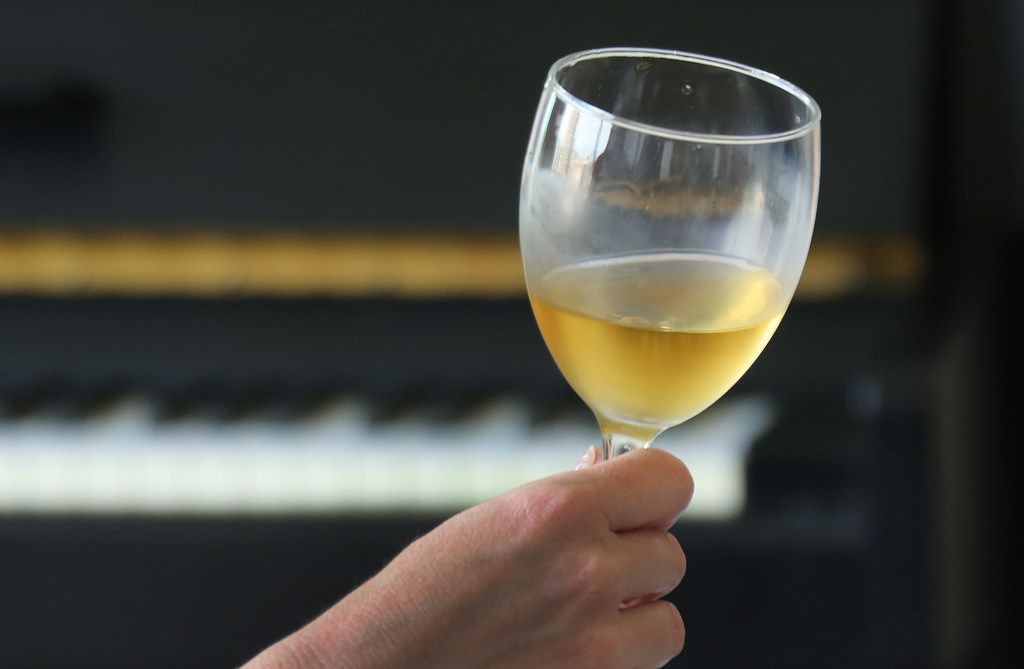A look at a glass of wine