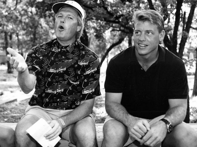 Dale Hansen and Troy Aikman in 1992.