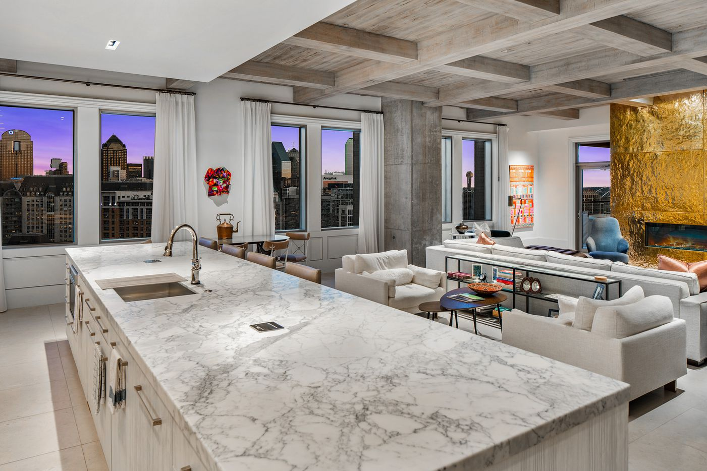 The penthouse at the Residences at the Stoneleigh, 2300 Wolf.