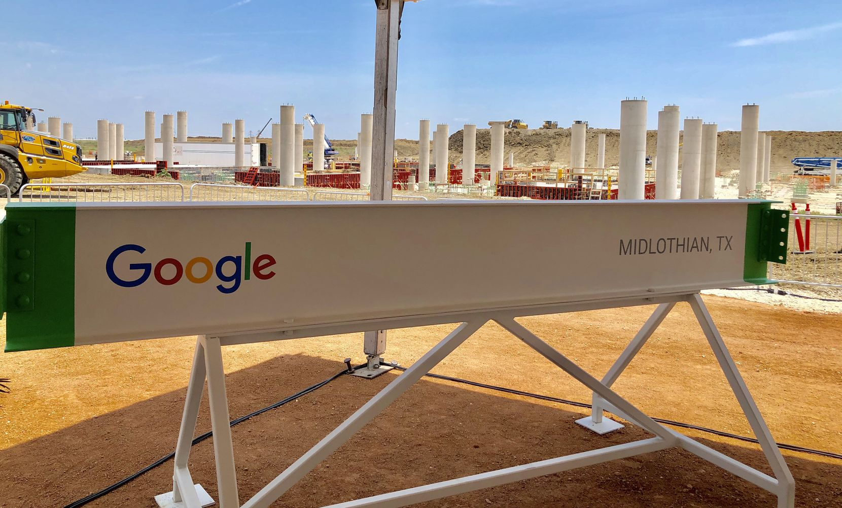 Google executives and Midlothian community leaders gathered Friday to celebrate development of a $600 million data center.
