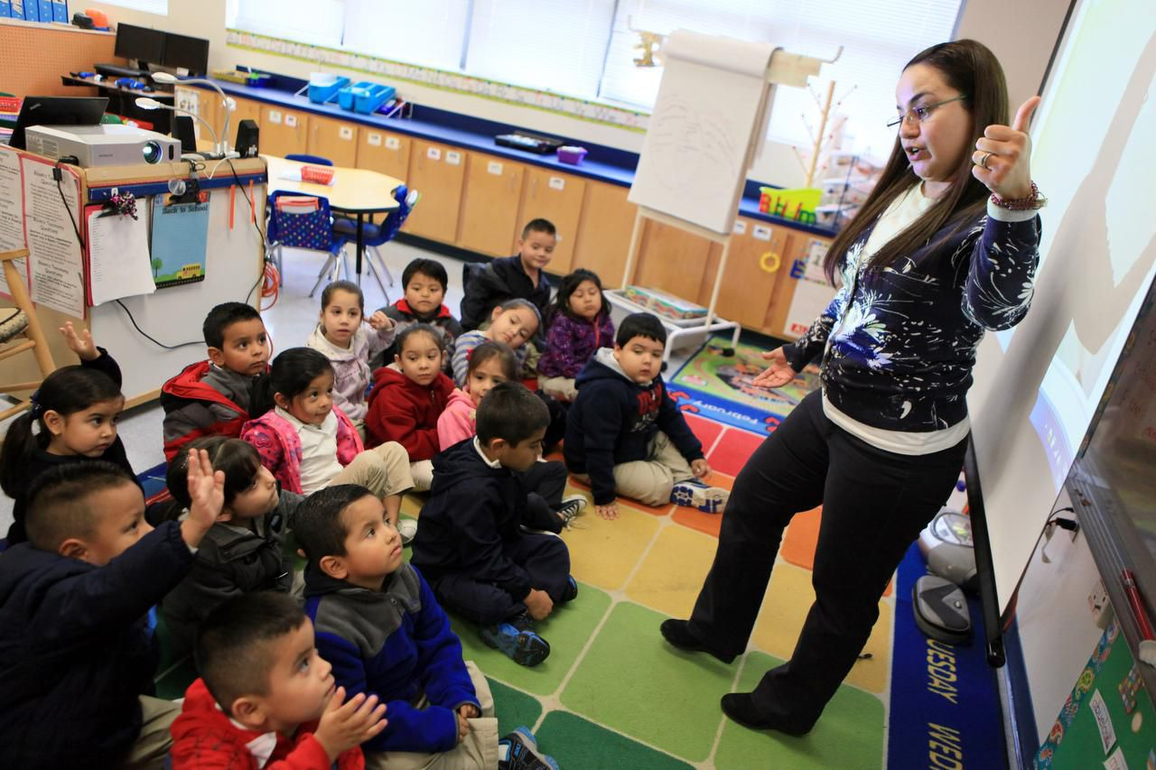 Pre-k teacher Norma Davila teaches at Stevens Park elementary in Dallas.