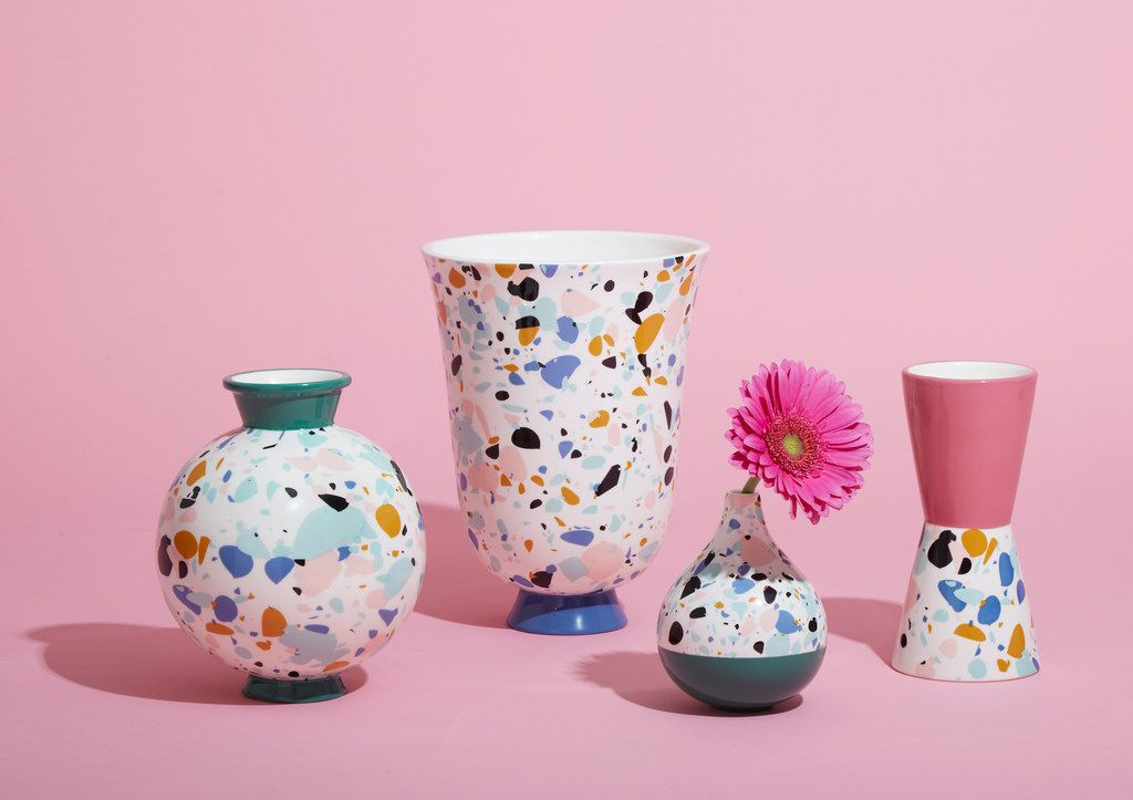 The terrazzo vases in Jonathan Adler's new collection for Amazon, Now House, are $28 to $88.