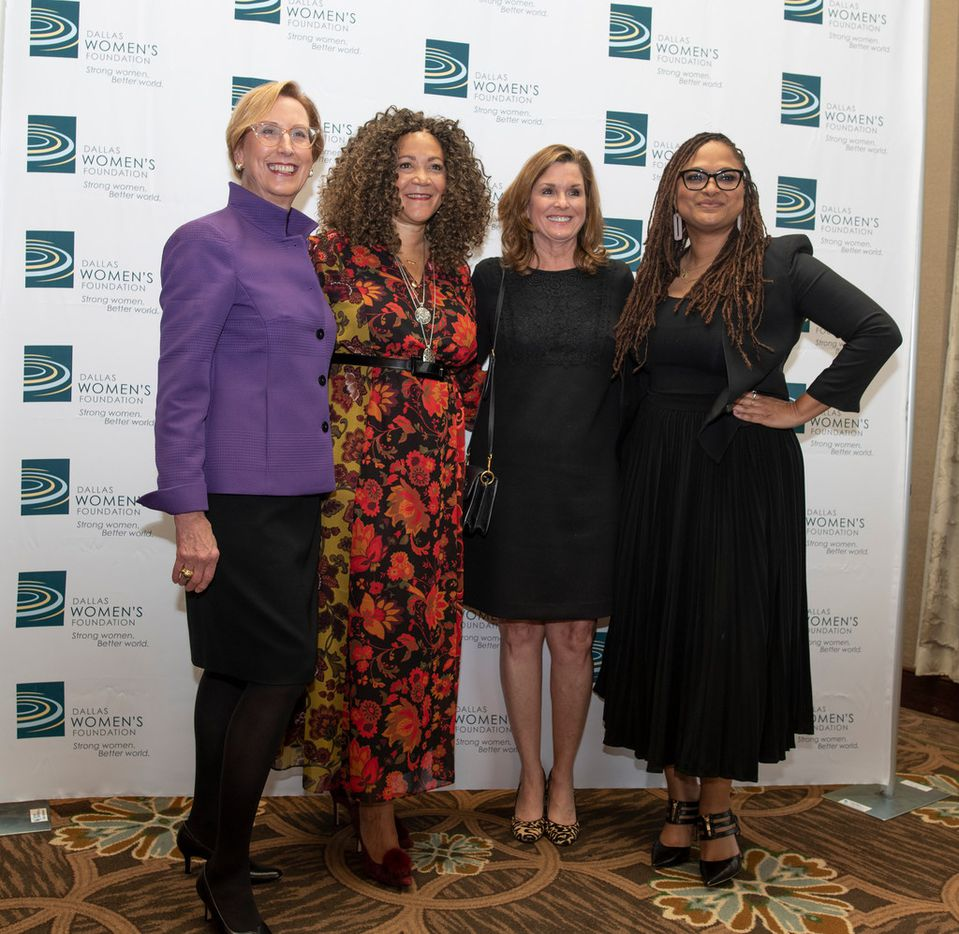 From left: Roslyn Dawson Thompson, president and CEO of the Dallas Women's Foundation, poses with Michele Norris, former NPR host; Jean Buys, director of the Retina Foundation of the Southwest; and director Ava Duvernay before the Dallas Women's Foundation 33rd annual luncheon at the Hilton Anatole Hotel on Nov. 7, 2018.